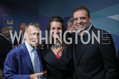 Conrad Cafritz, Elena and Shalom Baranes. Photo by Tony Powell. 2019 PEN/Faulkner Gala. Katzen Center. October 26, 2019