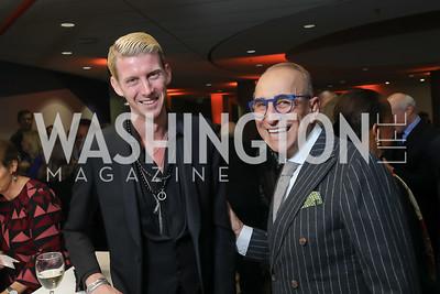 Jacob Lahr, Bill Homan. Photo by Tony Powell. 2019 PEN/Faulkner Gala. Katzen Center. October 26, 2019