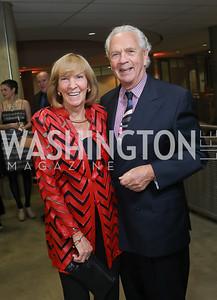 Wendy Benchley and John Jeppson. Photo by Tony Powell. 2019 PEN/Faulkner Gala. Katzen Center. October 26, 2019