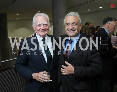 Malcolm O'Hagan, Peter Ackerman. Photo by Tony Powell. 2019 PEN/Faulkner Gala. Katzen Center. October 26, 2019
