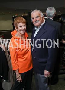 Catherine Wyler and Richard Rymland. Photo by Tony Powell. 2019 PEN/Faulkner Gala. Katzen Center. October 26, 2019