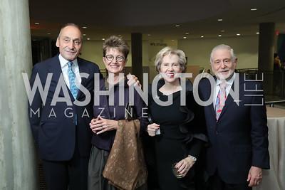 Thomas Krahenbuhl and Dorothy Kosinski, Lisa Barry and Jim Gale. Photo by Tony Powell. 2019 PEN/Faulkner Gala. Katzen Center. October 26, 2019