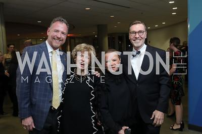 Christopher Morrison, Bitsey Folger, Ruthie LeFall, Michael Olding. Photo by Tony Powell. 2019 PEN/Faulkner Gala. Katzen Center. October 26, 2019