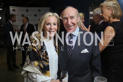 Erica Morehead and Joris Vos. Photo by Tony Powell. 2019 PEN/Faulkner Gala. Katzen Center. October 26, 2019