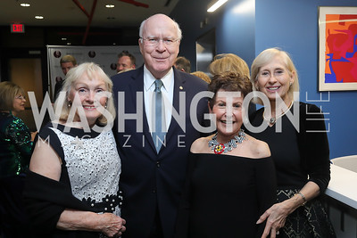 Marcelle Leahy and Sen. Pat Leahy, Ann Brown, Willee Lewis. Photo by Tony Powell. 2019 PEN/Faulkner Gala. Katzen Center. October 26, 2019