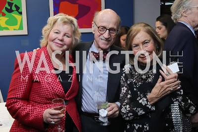 Lucinda Franks, Finlay Lewis, Susan Rappaport. Photo by Tony Powell. 2019 PEN/Faulkner Gala. Katzen Center. October 26, 2019