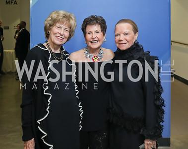Bitsey Folger, Ann Brown, Ruthie LeFall. Photo by Tony Powell. 2019 PEN/Faulkner Gala. Katzen Center. October 26, 2019
