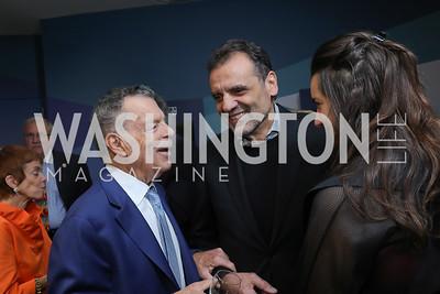 Conrad Cafritz, Shalom and Elena Baranes. Photo by Tony Powell. 2019 PEN/Faulkner Gala. Katzen Center. October 26, 2019