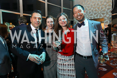 Gerry Diaz Bartolome, Kezia McKeague, Emily Brearley, Ben Chang. Photo by Tony Powell. 2019 WHCD Qatar and Washington Diplomat Pre-Party. Institute of Peace. April 26, 2019