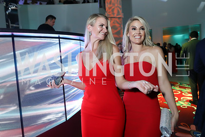 Lauren Bangerter, Heather Gough. Photo by Tony Powell. 2019 WHCD Qatar and Washington Diplomat Pre-Party. Institute of Peace. April 26, 2019