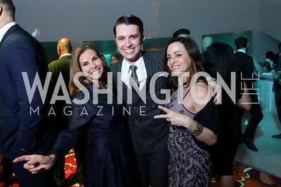 Lynda Erkiletian, Michael Zingali, Michelle Delino. Photo by Tony Powell. 2019 WHCD Qatar and Washington Diplomat Pre-Party. Institute of Peace. April 26, 2019