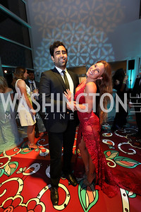 Captain Hamid Nasir, Maria Espinoza. Photo by Tony Powell. 2019 WHCD Qatar and Washington Diplomat Pre-Party. Institute of Peace. April 26, 2019