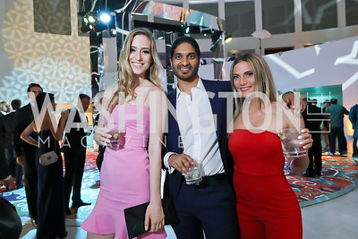 Augustine Gradoux-Matt, Vinoda Basnayake, Sarah Mueller. Photo by Tony Powell. 2019 WHCD Qatar and Washington Diplomat Pre-Party. Institute of Peace. April 26, 2019