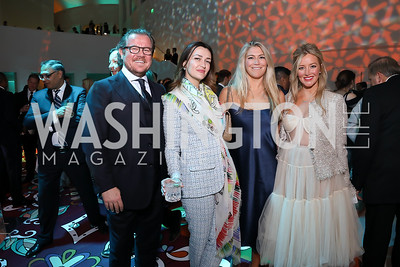 Damir and Amra Fazlic, Jackie Rooney, Jayne Visser. Photo by Tony Powell. 2019 WHCD Qatar and Washington Diplomat Pre-Party. Institute of Peace. April 26, 2019