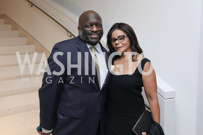 Jeff Ballou, Marcia Dyson. Photo by Tony Powell. 2019 WHCD Qatar and Washington Diplomat Pre-Party. Institute of Peace. April 26, 2019