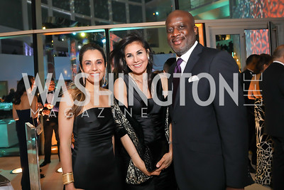 Kellen Dunning, Lamia Rezgui, Aaron Manaigo. Photo by Tony Powell. 2019 WHCD Qatar and Washington Diplomat Pre-Party. Institute of Peace. April 26, 2019