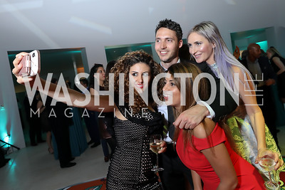 Lena Arkawi, Mason Calhoun, Arezo Yazd, DJ Neekola. Photo by Tony Powell. 2019 WHCD Qatar and Washington Diplomat Pre-Party. Institute of Peace. April 26, 2019