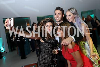 Lena Arkawi, Mason Calhoun, Arezo Yazd, DJ Neekola. Photo by Tony Powell. 2019 WHCD Qatar and Washington Diplomat Pre-Party. Institute of Peace. April 26, 2019