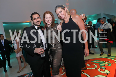 Ardy Sharia, Heather Jackman, Angie Steever Diba. Photo by Tony Powell. 2019 WHCD Qatar and Washington Diplomat Pre-Party. Institute of Peace. April 26, 2019