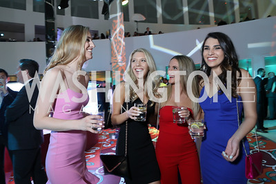 Sarah Mueller, Katie Davis, Augustine Gradoux-Matt, Randi Kontner. Photo by Tony Powell. 2019 WHCD Qatar and Washington Diplomat Pre-Party. Institute of Peace. April 26, 2019