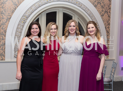 Elle Collins, Olivia OHea, Jennie Hurst, Emily McBride S.O.M.E Winter Ball February 8, 2019 Photo by Naku Mayo