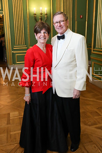 Courtney Clark Pastrick and Scott Pastrick. Photo by Tony Powell. Sibley Memorial Hospital 18th Hope & Progress Gala. Mellon Auditorium. March 9, 2019