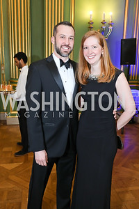 Josh and Lauren Wind. Photo by Tony Powell. Sibley Memorial Hospital 18th Hope & Progress Gala. Mellon Auditorium. March 9, 2019