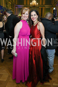 Kristen Pruski, Manisha Kapani. Photo by Tony Powell. Sibley Memorial Hospital 18th Hope & Progress Gala. Mellon Auditorium. March 9, 2019