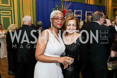 Michelle Yankey, Queenie Plater. Photo by Tony Powell. Sibley Memorial Hospital 18th Hope & Progress Gala. Mellon Auditorium. March 9, 2019