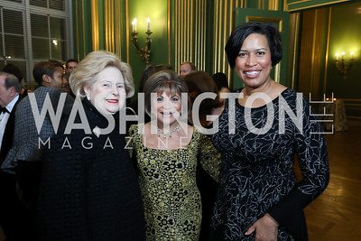 Beth Newburger Schwartz, Annie Totah, Mayor Muriel Bowser. Photo by Tony Powell. Sibley Memorial Hospital 18th Hope & Progress Gala. Mellon Auditorium. March 9, 2019