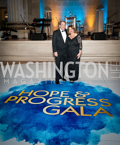 Gala Chairs Judy and Peter Kovler. Photo by Tony Powell. Sibley Memorial Hospital 18th Hope & Progress Gala. Mellon Auditorium. March 9, 2019