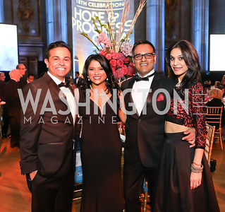 Anup Belur, Pavi Gowda, Dhiraj Jagasia, Pooja Jagasia. Photo by Tony Powell. Sibley Memorial Hospital 18th Hope & Progress Gala. Mellon Auditorium. March 9, 2019
