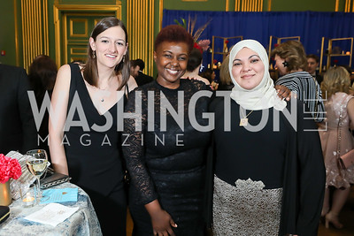Katie Estopinal, Emmy Mwavua, Lina Jariri. Photo by Tony Powell. Sibley Memorial Hospital 18th Hope & Progress Gala. Mellon Auditorium. March 9, 2019