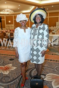 "Edna Lee Moffitt, Gwendolyn Boyd. Photo by Tony Powell. The Links 2019 ""High Tea in the City."" Omni Shoreham. March 30, 2019"
