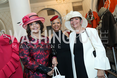 "Mona LaMothe Smith, Hope Lindsay, Michelle Hawkins. Photo by Tony Powell. The Links 2019 ""High Tea in the City."" Omni Shoreham. March 30, 2019"