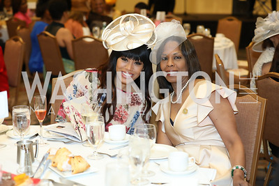 "Monique Samuels and Dr. Kellei Samuels. Photo by Tony Powell. The Links 2019 ""High Tea in the City."" Omni Shoreham. March 30, 2019"