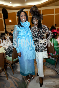 "Sisters Michelle Bernard and Andrea McIntosh. Photo by Tony Powell. The Links 2019 ""High Tea in the City."" Omni Shoreham. March 30, 2019"