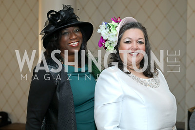 "Sharon Bland, Cami Mazard. Photo by Tony Powell. The Links 2019 ""High Tea in the City."" Omni Shoreham. March 30, 2019"