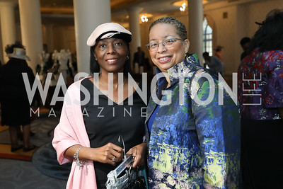 "Brenda Willoughby, Shireen Dodson. Photo by Tony Powell. The Links 2019 ""High Tea in the City."" Omni Shoreham. March 30, 2019"