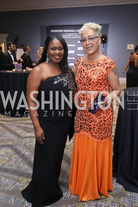 Aisha Brown, LaDonna Morgan. Photo by Tony Powell. 2019 Thurgood Marshall 32nd Anniversary Awards Gala. October 19, 2019