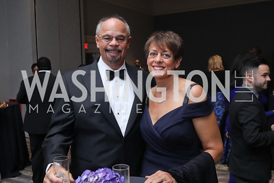 James Harley and Doris Harley. Photo by Tony Powell. 2019 Thurgood Marshall 32nd Anniversary Awards Gala. October 19, 2019