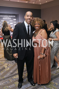 William Walton, Nina Bryson. Photo by Tony Powell. 2019 Thurgood Marshall 32nd Anniversary Awards Gala. October 19, 2019