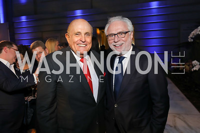 Rudy Giuliani, Wolf Blitzer. Photo by Tony Powell. 2019 WHCD The Hill's A Toast to Freedom of the Press. NPG. April 26, 2019