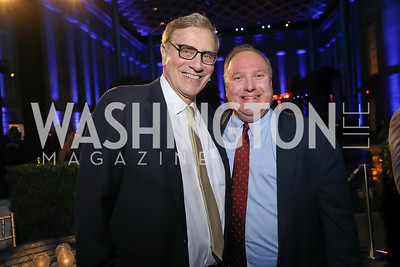 Hill Owner Jimmy Finkelstein, Exec. VP John Solomon. Photo by Tony Powell. 2019 WHCD The Hill's A Toast to Freedom of the Press. NPG. April 26, 2019