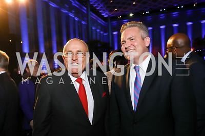 Mayor Rudy Giuliani, Bob Cusack. Photo by Tony Powell. 2019 WHCD The Hill's A Toast to Freedom of the Press. NPG. April 26, 2019