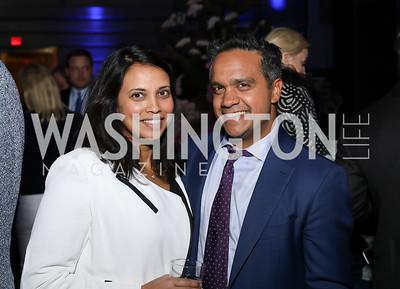 Archana Mehta, Manu Raju. Photo by Tony Powell. 2019 WHCD The Hill's A Toast to Freedom of the Press. NPG. April 26, 2019