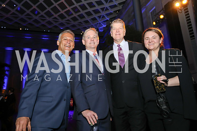 Matt Glassman, Andrew Oros, Steve Clemons, Katie Gardner. Photo by Tony Powell. 2019 WHCD The Hill's A Toast to Freedom of the Press. NPG. April 26, 2019