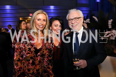 Maria Trabocchi, Mona Hamdy, Wolf Blitzer. Photo by Tony Powell. 2019 WHCD The Hill's A Toast to Freedom of the Press. NPG. April 26, 2019