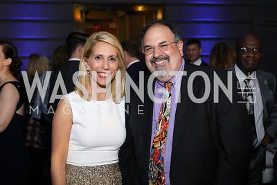 Dana Bash,  Hill TV Exec. Producer Chris Guarino. Photo by Tony Powell. 2019 WHCD The Hill's A Toast to Freedom of the Press. NPG. April 26, 2019