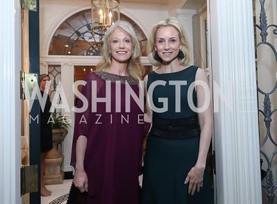 Kellyanne Conway, Katherine Bradley. Photo by Tony Powell. 2019 WHCD Bradley Welcome Dinner. April 26, 2019